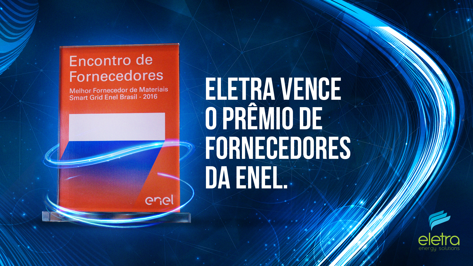 Eletra wins an award of suppliers at Enel